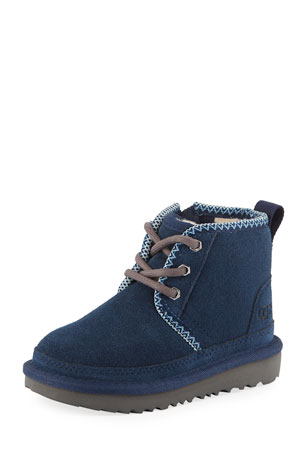 UGG Neumel II Suede Lace-Up Boots, Kids