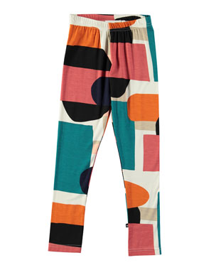 ee7e6983edb8b Molo Niki Multicolored Geometric Leggings, Size 4-14
