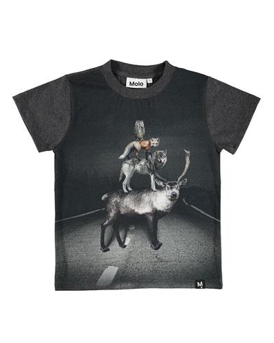Raymont Road Animals Short-Sleeve Tee, Size 4-10
