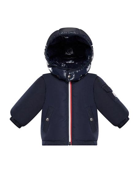 Moncler Jonquieres Contrast-Hood Jacket, Size 12M-3