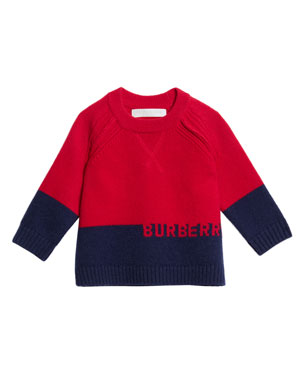 b4edffb74 Burberry Alister Colorblock Cashmere Sweater, Size 12M-3. Favorite. Quick  Look