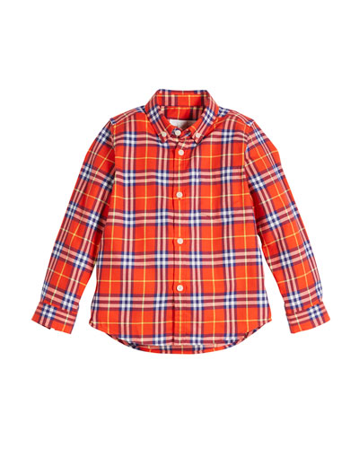 Fred Check Button-Down Shirt  Size 4-14