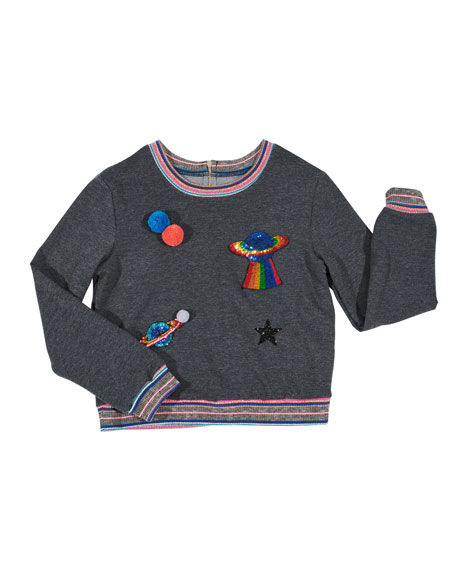 Space Patches Sweatshirt, Size 7-14