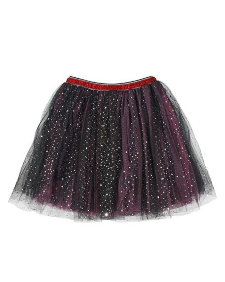 Glitter Dot Tulle Tutu Skirt, Size 4-6X