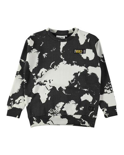Madism World Map Sweatshirt, Size 4-12