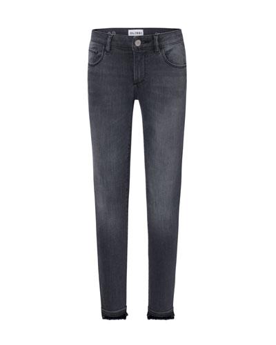 Chloe Skinny Raw-Hem Jeans, Size 7-16