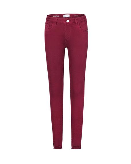 DL1961 Premium Denim Chloe Skinny Raw-Hem Jeans, Size