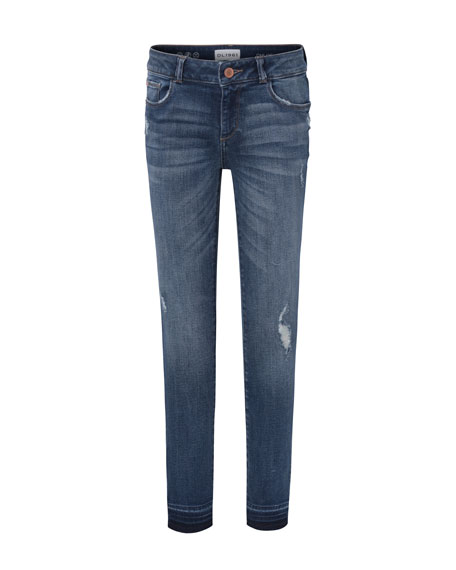 DL1961 Premium Denim Medium Wash Distressed Skinny Jeans