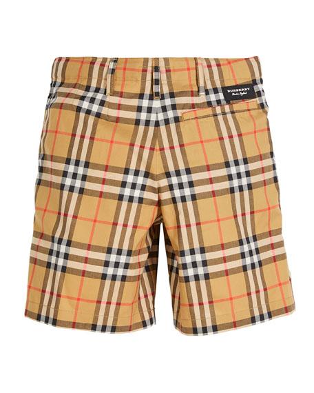 Burberry Tristen Check Shorts, Size 4-14