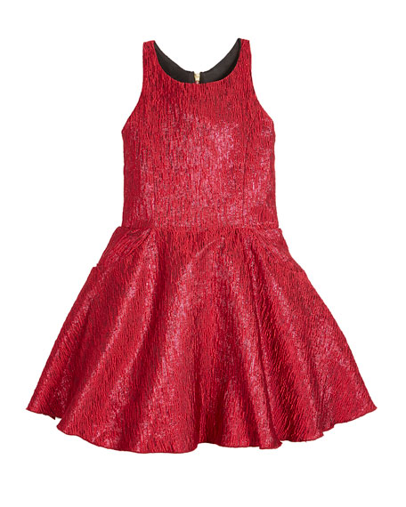 Zoe Rea Abstract Brocade T-Back Swing Dress, Size 7-16