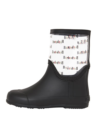 Frosty Logo-Print Transparent Rain Boots, Toddler/Kids