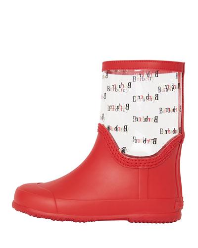 Frosty Logo-Print Transparent Rain Boots  Toddler/Kids