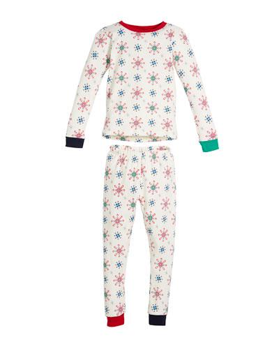 Holiday Snowflake Pajama Set, Size 2-8