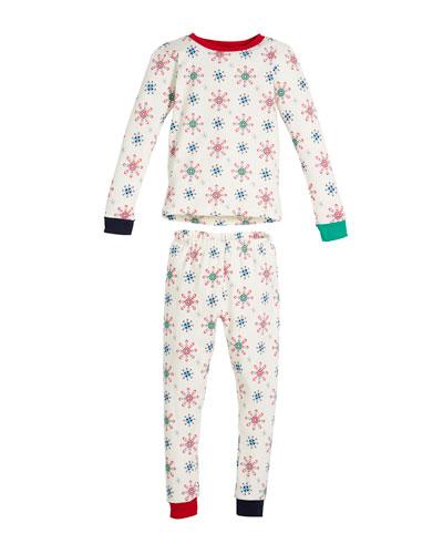 Holiday Snowflake Pajama Set, Size 10-14