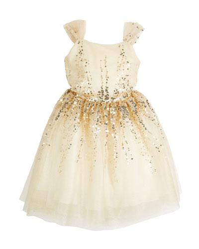 Elena Ombre Sequin Party Dress  Size 7-16