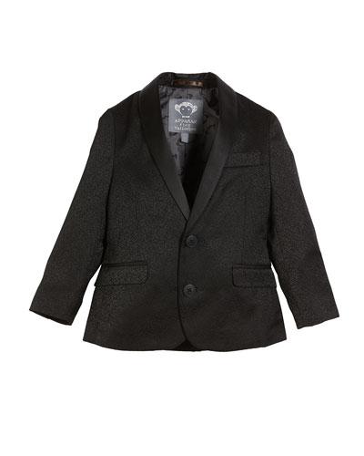 Boys' Jacquard Blazer w/ Satin Shawl-Collar  Size 4-16