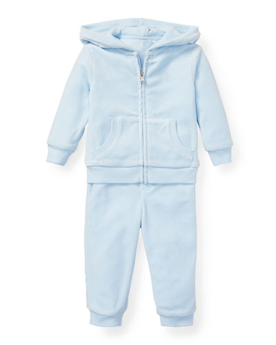 French Terry Zip-Up Jacket w/ Sweatpants  Size 6-24 Months