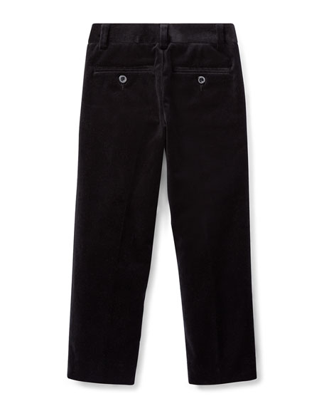Ralph Lauren Childrenswear Newport Velvet Straight-Leg Pants, Size 5-7
