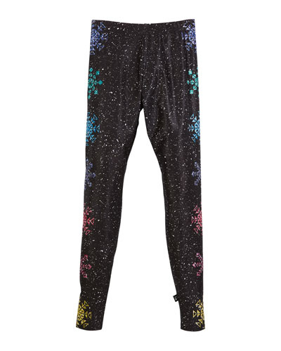 Glitter Snowflake Leggings  Size 7-16