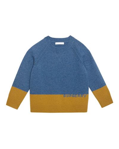 Alister Colorblock Cashmere Sweater  Size 3-14