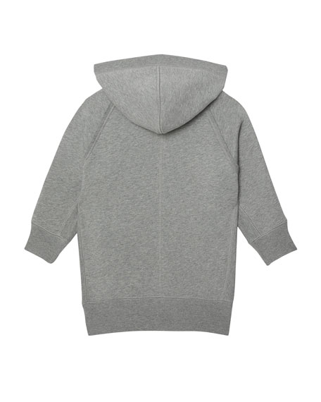 Burberry Aurora Raised Logo Sweatshirt Dress, Size 3-14