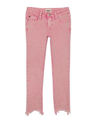 Wren Raw-Hem Skinny Jeans, Size 4-6X
