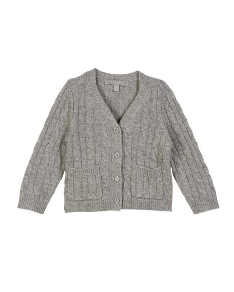 Sofia Cashmere Cable-Knit Cashmere Cardigan, Size 2-6