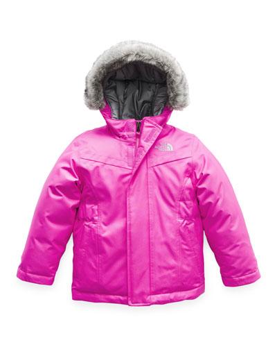 Greenland Down Hooded Jacket w/ Faux-Fur Trim  Size 2-4T