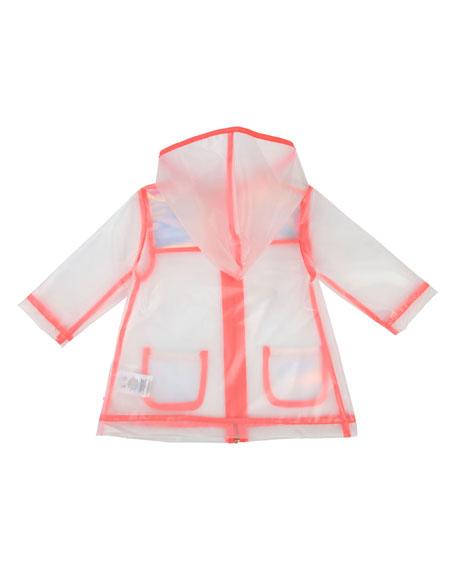 Billieblush Transparent Hooded Raincoat, Size 12M-3