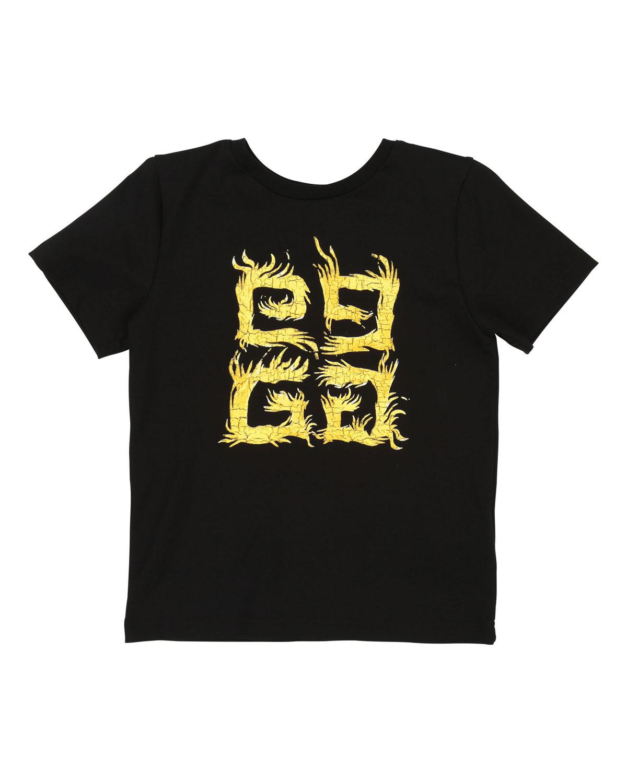 b092e58d Givenchy 4G Logo Short-Sleeve Tee, Size 4-10 | Neiman Marcus