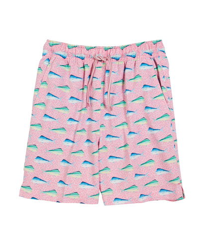 Mahi-Mahi Print Swim Trunks  Size XS-XL