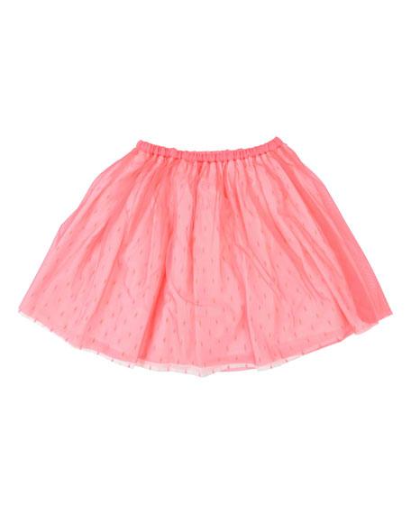 Billieblush Printed Underlay Tulle Skirt, Size 4-12