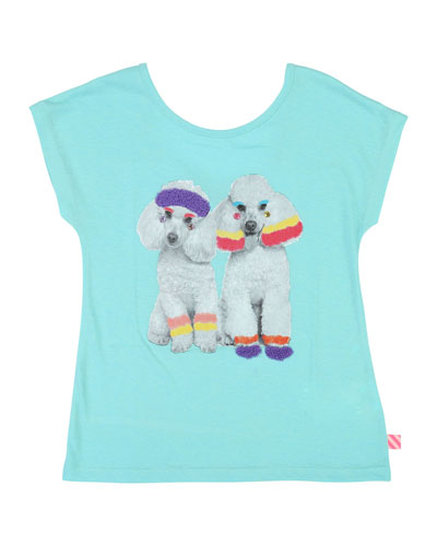 Workout Poodles Graphic Tee  Size 4-12