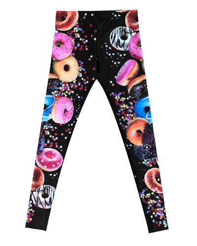 Donut Disturb Printed Leggings, Size 7-16