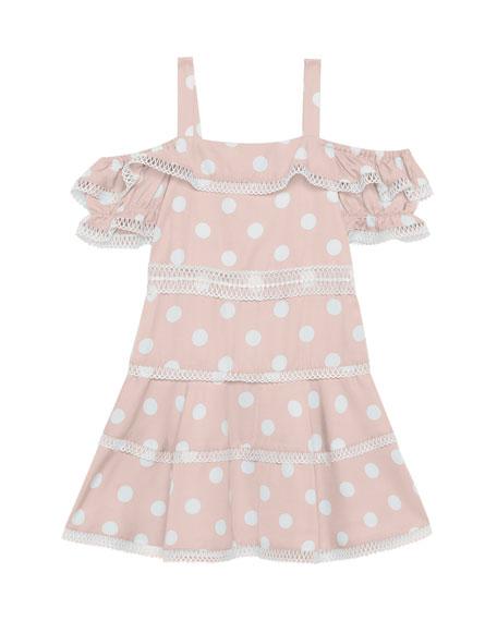 Bardot Isola Knit-Trim Polka-Dot Dress, Size 8-16