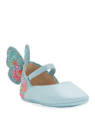 1ae93b4a915 Sophia Webster Chiara Embroidered Butterfly-Wing Flats