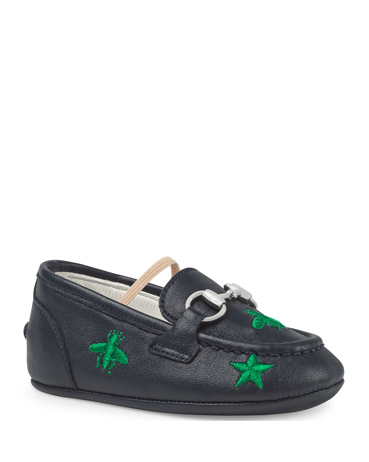 23b8debe69e Gucci Jordan Bee   Star Embroidered Leather Loafers