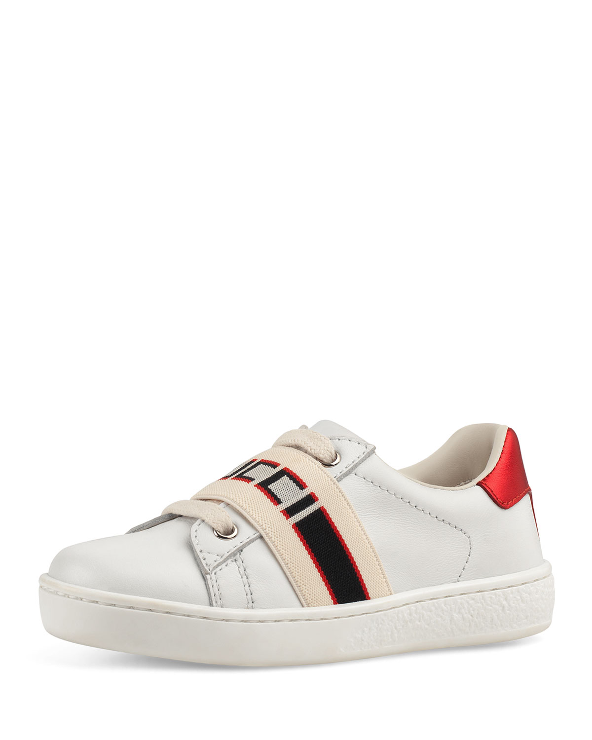 4a183bc4628 Gucci New Ace Gucci Band Leather Sneaker