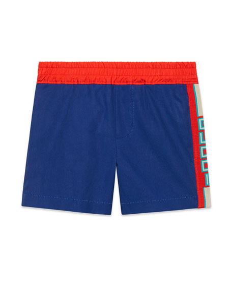 Gucci Bermuda Shorts w/ Logo Taping, Size 9-36 Months