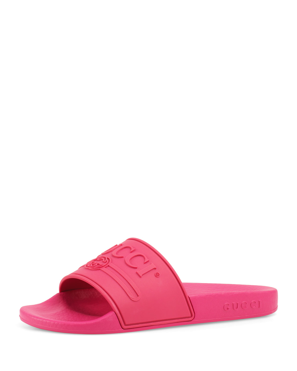 f88a16788c90 Gucci Pursuit Gucci Rubber Slide Sandals
