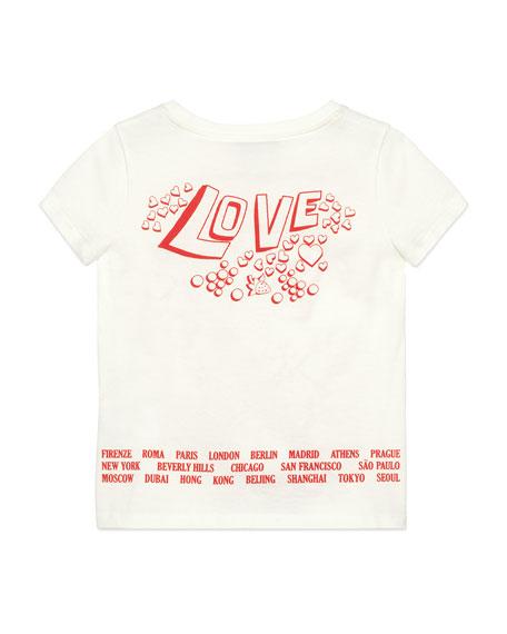 Gucci Gucci Soul & Love Short-Sleeve T-Shirt, Size 4-10