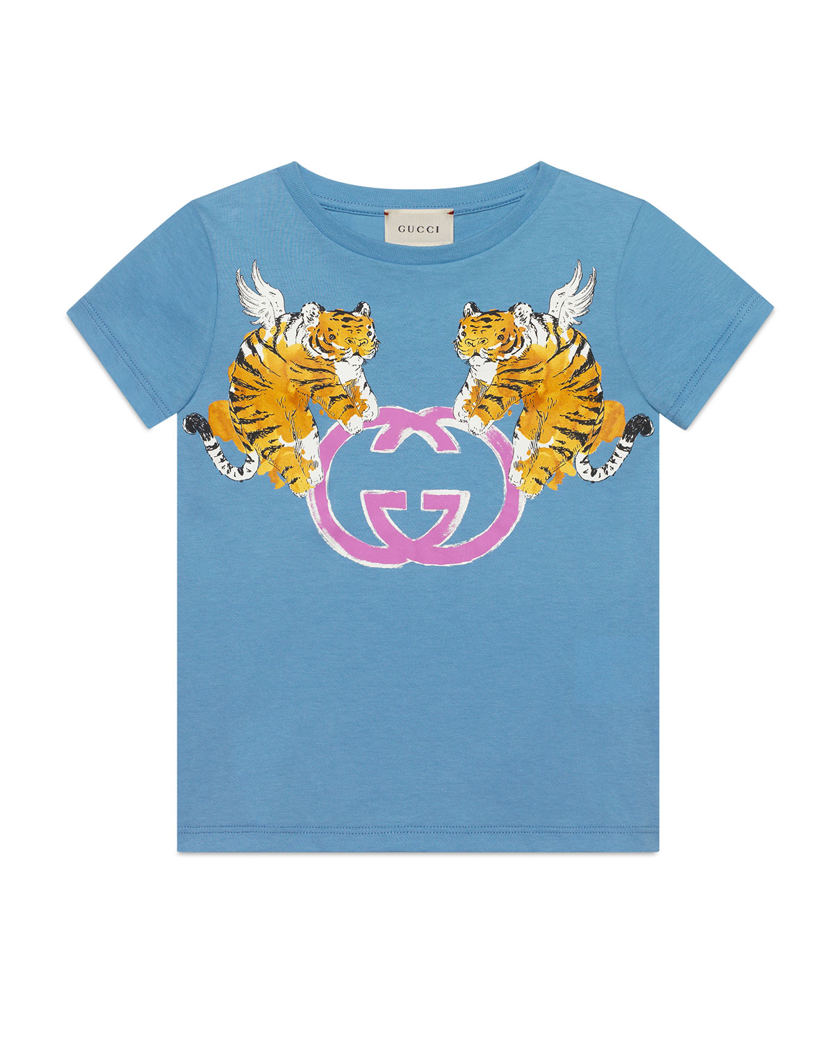 9a7a5a79 Gucci Double Tiger GG Short-Sleeve T-Shirt, Size 4-10 | Neiman Marcus