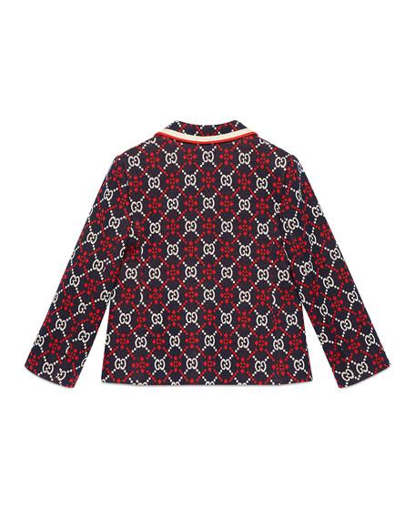Gucci Mixed GG Supreme Print Blazer, Size 4-12
