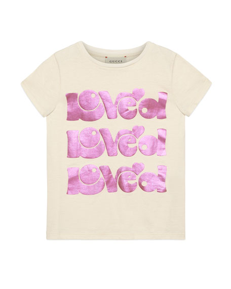 Gucci Loved Short-Sleeve T-Shirt, Size 4-10