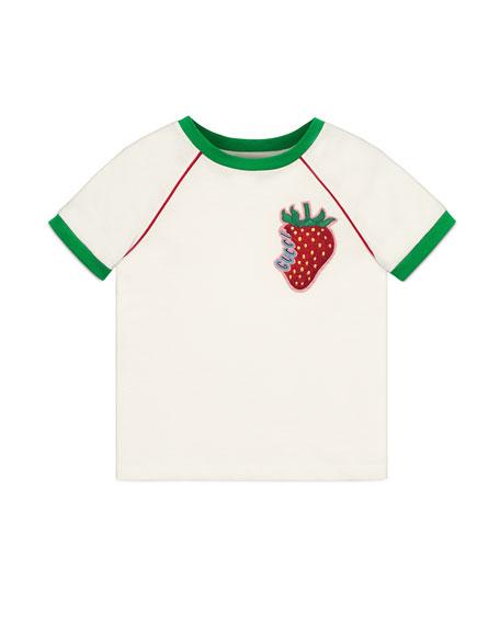 Gucci Gucci Strawberry Patch T-Shirt, Size 4-12