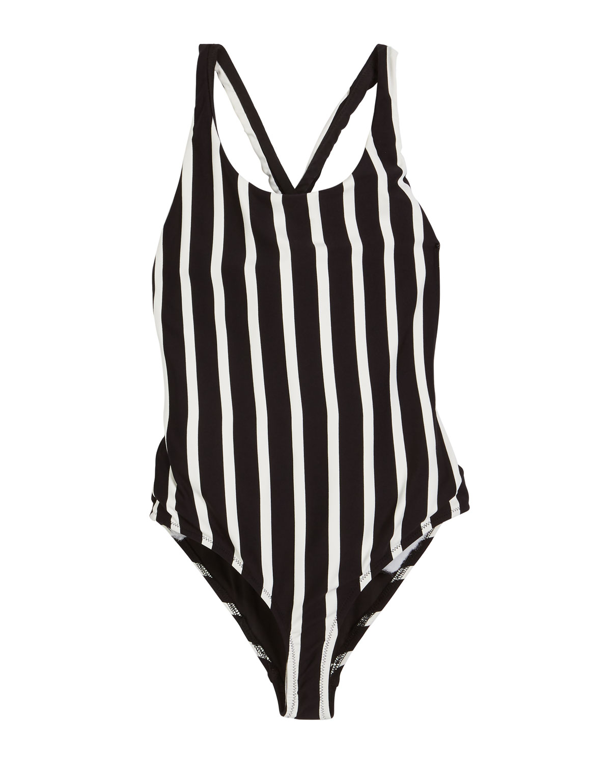 692c6d00dfa85b Milly Minis Striped Scoop-Neck One-Piece Swimsuit, Size 4-6 and ...