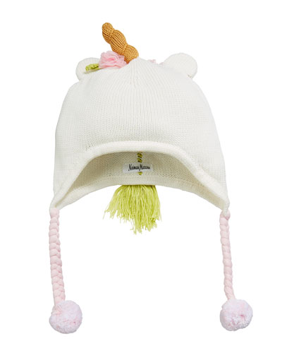 Girls' Unicorn Trapper Hat