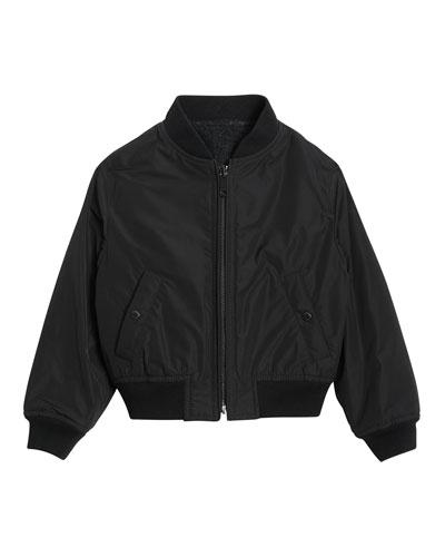 Julian Logo-Back Bomber Jacket  Size 3-14