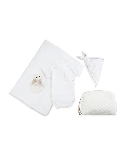 Cammy 4-Piece Check Trim Gift Set  Size 1-9 Months
