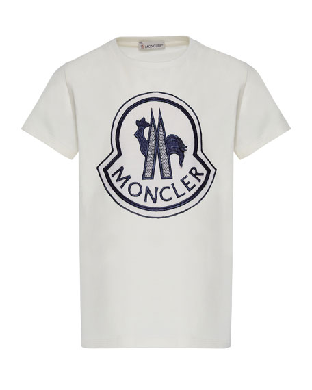 Moncler Short-Sleeve Logo Patch T-Shirt, Size 4-6